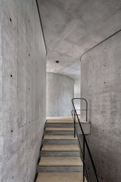 This concrete stairwell seems mysterious... | japanesetrash.com