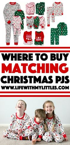d5a56776a8 Not sure where to buy matching Christmas pajamas for your family  Here are  six places
