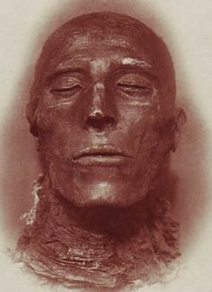 The well preserved mummy of Seti I, son of Ramses I and father of Ramses II