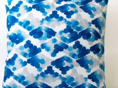 Throw Pillow Cover / Blue Watercolor / 18x18. $16.50, via Etsy. watercolor geometric patterns, blue watercolor, colors, cushion, pillow covers, watercoloriphon diy, throw pillows, cover case, blues