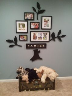 New family collage and completed puppy toybox
