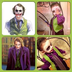 "DIY toddler costume ""The Joker"""