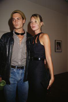 Johnny Depp et Kate Moss à la Danziger Gallery de New York, 1993