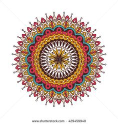 Decorative arabic round lace ornate mandala. Vintage vector pattern for print or web design. Mandala abstract colorful background. Invitation, wedding card, national design.