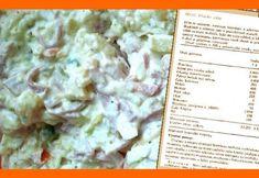 Vlašský šalát - originál totalitný (bez vajec) Suroviny sú na výsledných 2,5 kg šalátu  875g zemiaky 570g šunková saláma  225g sterilizovaných uhoriek 50g steril hrášku 80g zeler 120g mrkvy  50 g horčice 1,25g mleté čierne korenie 38g octu 13g worchester 500g majonéza 25g cukor krys 25g soľ Uvarené a za tepla olúpané zemiaky vychladnúť,nakrájame, pridáme nakrájané uhorky a varenú zeleninu, salám na rezance, hrášok a majonézu, zmiešanú s horčicou a octom. Šalát dochutíme a zľahka premiešame