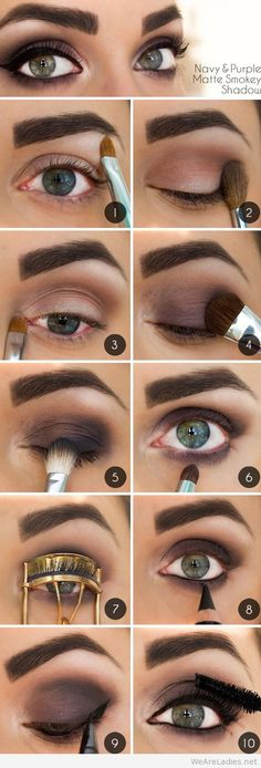 A matte smoky eye is always gorgeous and flattering