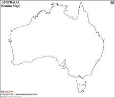 australia blank printable map, royalty free, aussie