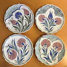 Most of the most popular bags do not meet a certain aesthetics this season. Flower Aesthetic, Aesthetic Images, Ceramic Plates, Decorative Plates, Flower Drawing Images, Dream Drawing, Mosaic Flowers, Visual Memory, Turkish Art