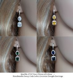 Your Colour Choice  Handmade Fancy Cuts by PrettybySusanJewelry