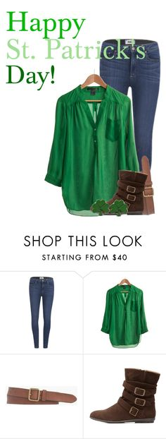 """Happy St. Patrick's Day!"" by aritter102 ❤ liked on Polyvore featuring Paige Denim, Look From London, J.Crew, Charlotte Russe, women's clothing, women, female, woman, misses and juniors"