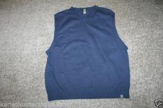 Nike Golf Men's Navy Blue V Neck Sweater Vest Size Large