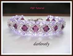 Amethyst Violet ... by darlovely | Jewelry Pattern - Looking for your next project? You're going to love Amethyst Violet Bracelet (BB004) by designer darlovely. - via @Craftsy