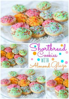 Shortbread Cookies with Almond Glaze