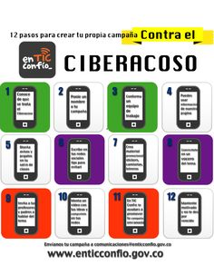 12 pasos contra el ciberacoso #infografia