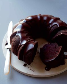 Guaranteed to satisfy any chocolate craving, this is an excellent cake to keep in mind when you have a houseful of guests. The ganache glaze makes it dressy enough for dessert after a special dinner.