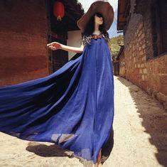 Summer Casual Flowy Maxi Dress