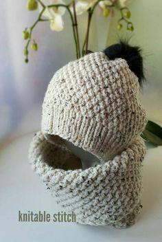 Knit Slouchy Hat Pattern, Beanie Knitting Patterns Free, Knitting Stitches, Free Knitting, Crochet Patterns, Hat Patterns, Slouchy Beanie Hats, Knitting Needles, Beanies