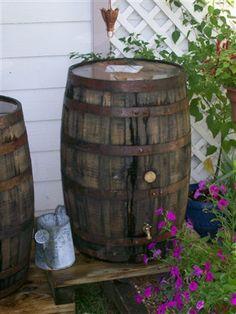FARM LIFE LESSONS: #38 - Old Whiskey Rain Barrels...I'm in Love