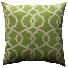 Pillow Perfect Lattice Damask Leaf 18-inch Throw Pillow - Overstock™ Shopping - Great Deals on Pillow Perfect Throw Pillows