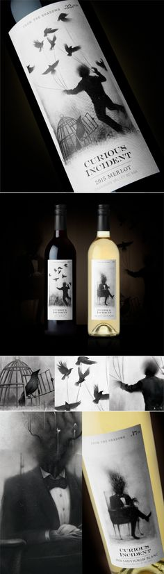 Get Spooky With Curious Incident Wine — The Dieline | Packaging & Branding Design & Innovation News