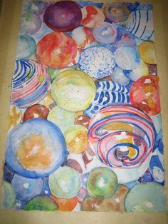 Art class, marbles!