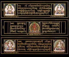 Buddhist Texts, Buddhist Art, Shri Yantra, Book Sculpture, Tibetan Buddhism, Book Binding, Illuminated Manuscript, Indian Art, Tapestries