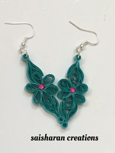 Paper Quilling Earrings by papersandpassions on Etsy