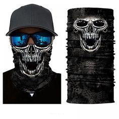 Protect yourself from the elements with the Vampire Skull Face Shield from Bushpro Outdoors. Venom Face, Vampire Skull, Head Bandana, Joker Clown, Motorcycle Face Mask, Skull Face Mask, Clown Faces, Neck Scarves, Mask Design