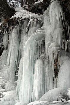 frozen waterfall in alaska