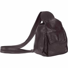 Embassy™ Italian Stone™ Design Brown Genuine Leather Backpack Purse #Leather #Backpack #Handbag