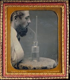 James Hyatt Inhaling Chlorine Gas: ca 1850 - 1855