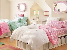 Decoración para una habitación femenina y juvenil