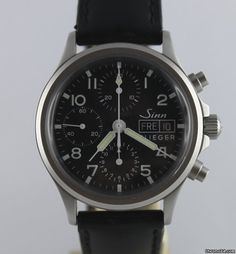 Sinn 356 ad: 1,149€ Sinn Flieger 356 Chronograph Bj.2010 Papiere+Box Ref. No. 356.020; Steel; Automatic; Condition 2 (fine); Year 10.2010; With box; With papers; Lo