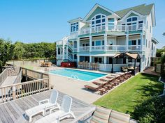 Outer banks, NC. Destination wedding idea. Rent a house with a private beach. Ceremony space, reception space, lodging, honeymoon spot all in one.