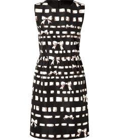 Black Multi Printed Dress by Valentino R.E.D