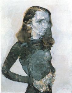 Hans Bellmer - Portrait of Nora Mitrani, late 1940s.