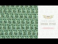 How To: Crochet The Arruga Stitch   Easy Tutorial by Hopeful Honey - YouTube