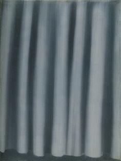 Gerhard Richter, Vorhang (Curtain), 1965, 24 cm x 18 cm, Oil on canvas