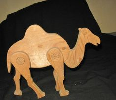 Vintage Wooden Articulated Toy Camel, Wooden Toy Animal, Desert Animal by Atelierbizart30 on Etsy