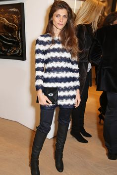 Elisa Sednaoui wore a Diane von Furstenberg spring/summer 2015 top and trousers.