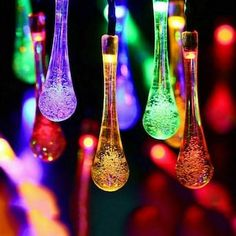 Solar Fairy Lights, Outdoor Fairy Lights, Solar String Lights, String Lights Outdoor, Light String, Solar Licht, Solar Light Crafts, Diy Solar, Patio Lighting