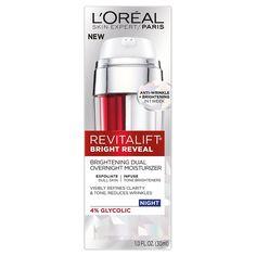 L'Oréal Paris Revitalift Bright Reveal Brightening Dual Overnight Moisturizer 1…