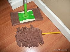 I'd be willing to try this. Use old towels to make Swiffer cloths for the sweeper and duster.