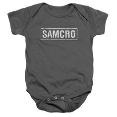 This stylish and elegant-looking Baby Snapsuits features amazingly vibrant art of SAMCRO from hugely popular SONS OF ANARCHY franchise! A beautiful way to indulge your love for all things, this offici