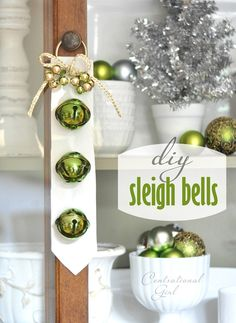 DIY sleigh bells craft tutorial...I want these for my doors, looks easy!