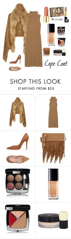 """Cape Coats fashion"" by kotnourka ❤ liked on Polyvore featuring Roberto Cavalli, Madeleine Thompson, Sebastian Professional, Chanel and Elizabeth and James"