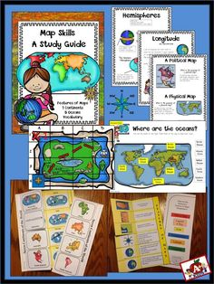 Maps Skills Unit - Students will love learning about map skills with printables, interactive foldables, and puzzles. Education Quotes For Teachers, Quotes For Students, Quotes For Kids, Elementary Science, Elementary Education, Classroom Map, Classroom Organization, Map Skills, Treasure Maps