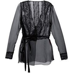 Dolce and Gabbana Sheer Wrap Blouse ($1,695) ❤ liked on Polyvore featuring tops, blouses, all tops, kirna zabete, wrap blouse, black top, sheer blouse, black sheer top et long sleeve tops