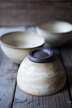 These beautiful ceramics are hand thrown and hand dipped by Seattle artist Sarah Steininger Leroux. We love the matte glaze and neutral tones. We only have a few of these in stock but we're excited to