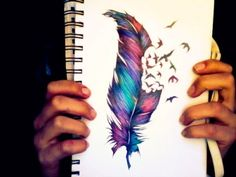 love feathers - I want this tatted